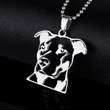 Stainless Steel Natural Ear Pitbull Terrier Pitties Pet Dog Id Tag Charm Pendant