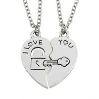 His and Hers Stainless Steel I Love You Heart Men Women Couple Pendant Necklace
