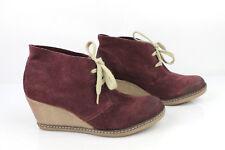 Stivali Lacci scarpe con tacchi Zeppe CABLE Camoscio Prugna T 39 > 40