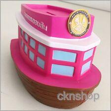 Boat Box Cash Saving Bank Pink Piggy Money Coin Vintage Plastic Pvc Collection