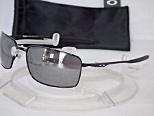 NEW OAKLEY SQUARE WIRE II 2 SUNGLASSES OO4075-01 Polished Black / Black Iridium