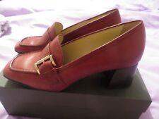 BNIB Hobbs Mid Heel 55mm Rowan Loafers/Shoes Mulberry (Maroon) Leather 37.5/4.5
