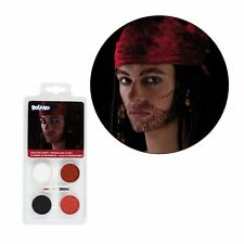 Kids Buccaneer Pirate Face Paint FX Kit Halloween Fancy Dress Costume Makeup