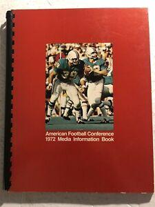 1972 AFL Football Guide MIAMI DOLPHINS Bob GRIESE Larry CSONKA Super Bowl VI