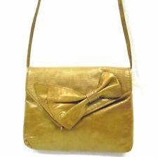 Vintage Donna Elissa for Mr Jay Gold Wash Leather Messenger Crossbody Bag RARE