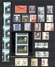 US, Wonderful Assortment of Misperfed MINT NH Stamps