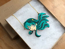 Urusei Yatsura Lum Invader Inspired - Hand Painted Wood Necklace