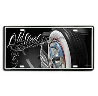 DGA David Gonzales Art Old Skool Lowrider Tin Metal License Plate 12 x 6
