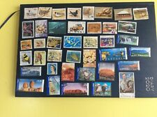 40 x Australia stamps (some International post stamps) used and all different