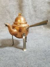 New listing Miniature Copper Teapot with 3 legs, Total height is 6 3/8 inches