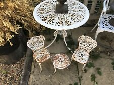 Miniature Cast Iron Table And Chairs