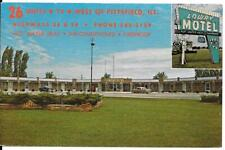 Postcard Illinois Pittsfield Lowry Motel Chrome Unposted Retro