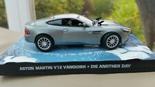 1:43 Corgi Diecast James Bond 007 Aston Martin V12 Vanquish Grey Die Another Day