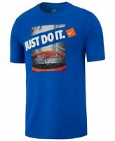 Nike Mens T-Shirt Blue Size Large L Dri Fit Game Basketball Just Do It Tee 374