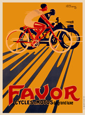 Favor - Original Vintage Bicycle Poster - Art Deco - Cycling - Prunieve