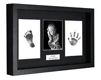 Personalied Handprint Foot Print 3D Box Frame Kit Baby Shower Gift Christening