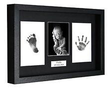 Personalied empreinte pied imprimé boîte 3D châssis kit baby shower cadeau baptême