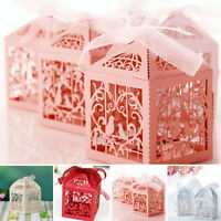 10/50/100Pcs Luxury Wedding Favour Favor Sweet Cake Gift Candy Boxes Table Decor