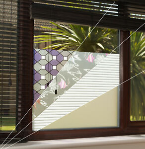 Privacy Window Film Tint - Glass Frosted Tinting Self Adhesive - VARIOUS DESIGNS