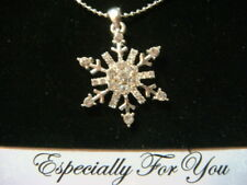 Snowflake Austrian Crystal pendant 18 inch adjustable chain gift boxed elegant