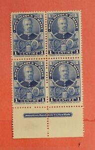 1898 HAITI #52 INSCRIPTION BLOCK MNH