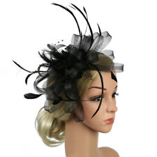 9b6aed21dff Womens Sinamay Fascinator Cocktail Party Hat Wedding Church Kentucky Derby  Dress