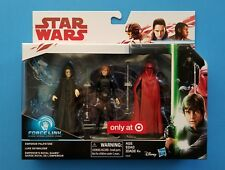 Star Wars The Last Jedi TLJ Luke Emperor Royal Guard Target 3 pack Exclusive
