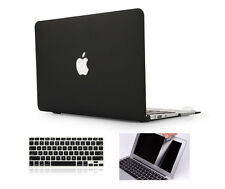"Black Rubberized Matte Hard Case Cover Skin Set Macbook Pro 13/15/16"" Air 11/13"""