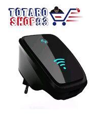 WIRELESS-N Wi-fi REPEATER SEGNALE AMPLIFICAZIONE ROUTER AP WPS NERO RIPETITORE