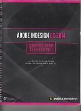 Adobe Indesign CC 2014 Step By Step Training Spiral NO WRITING (E1-35)