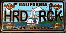 "Hard Rock Cafe SAN FRANCISCO 2015 LICENSE PLATE Series Core PIN Card ""HRD RCK"""