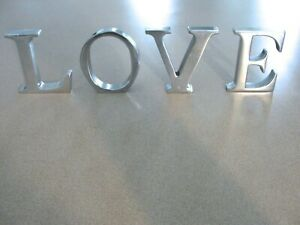 """""""SOLID ALUMINUM"""" Metal Letters Spelling LOVE - Awesome Display"""