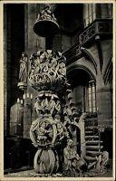 Freiberg Sachsen DDR AK frankiert 1965 Inneres des Doms Blick auf Tulpenkanzel
