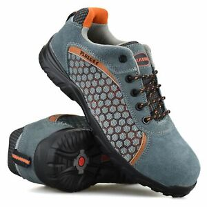 Mens Leather Safety Steel Toe Cap New Lightweight Work Boots Trainers Shoes Size