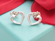 Tiffany & Co Silver 925 Picasso Tenderness Heart Earrings