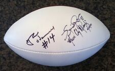 NEIL O'DONNELL & KEVIN DYSON, Tennessee Titans, signed NFL Football - 01/08/2000