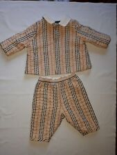 BURBERRY Baby Check Padded Set Jacket & Pants 1-3 Months