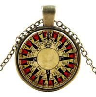 Nautical Compass Gothic Steampunk Necklace Pendant Victorian Vintage Jewellery