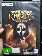 Star Wars - Knights of the Old Republic II - Sith Lords - PC GAME - FREE POST *