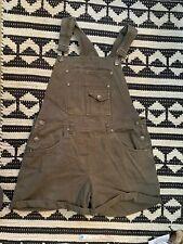 Vintage 90s Fashion Bug women Green Shortalls Romper Shorts Overalls Sz S