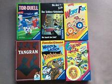 6x Spiele Paket Kinder, 3 Fragezeichen, Tor Duell, Tangram, Deutschland, WortFix