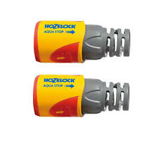 Hozelock 2055 AquaStop Water Stop Hose Pipe Connector PLUS (12.5 / 15mm) Pack 2