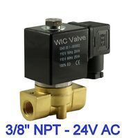 Brass Direct Directing Fast Response Electric Solenoid Valve NC 24V AC 3/8 Inch