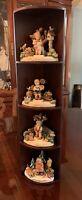 RARE: HUMMEL FOUR SEASONS COLLECTOR'S SET - Hummel TMK-8 Figurines/Display Shelf
