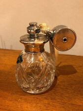 Vintage Royal Brierley Cut Crystal Perfume Bottle Atomizer Silver W I Broadway