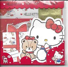Sanrio Hello Kitty Briefpapier Umschlag Aufkleber groß Set rote Herzen