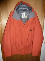 Burton DryRide Snowboard Ski Jacket Men's Rust Red Insulated Hooded - Size L