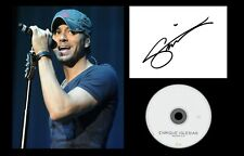More details for enrique iglesias signed print/ ready for mounting or framing/ size a4/ photo