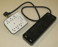 Lot of 2 GE Surge Protector 8 outlet, 2 charging ports 3 prong, Belkin Protector