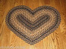 Braided HEART Throw RUG*Primitive/French Country Urban Farmhouse Decor*New
